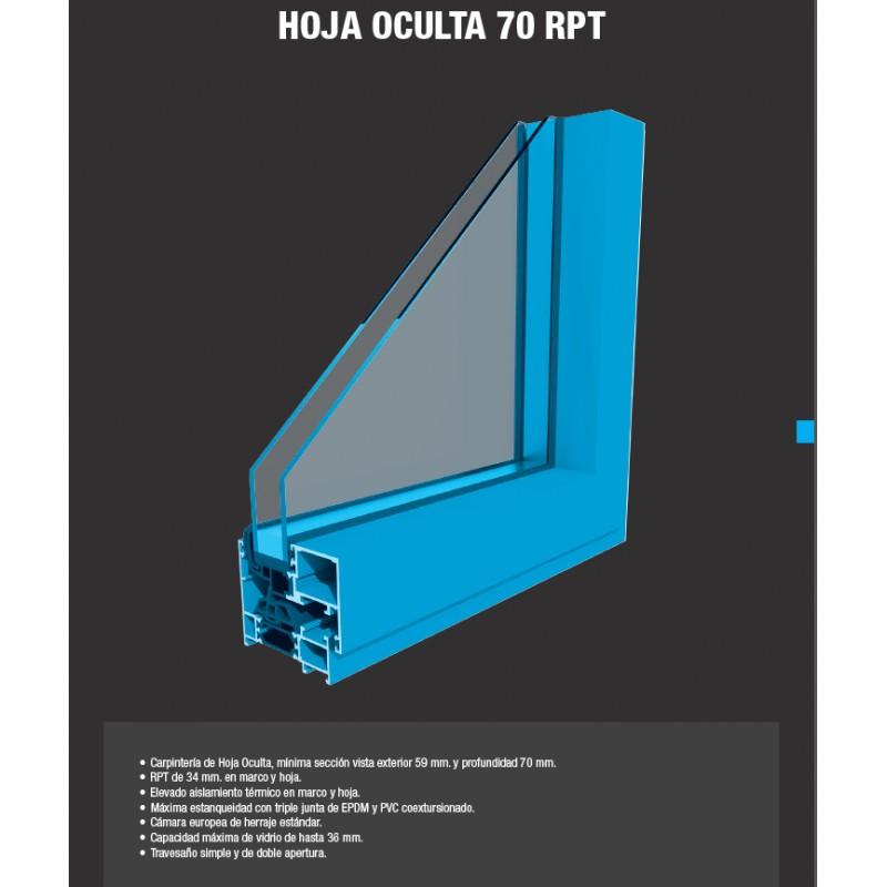 Aluminum practicable window - Alfil HO70 RPT (Hoja Oculta) - Catal ...